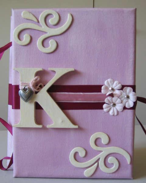 """"""" K """" Canvas Album. Front View"""