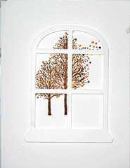 Trees thru a window