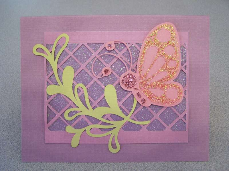 Butterfly and Vine Card