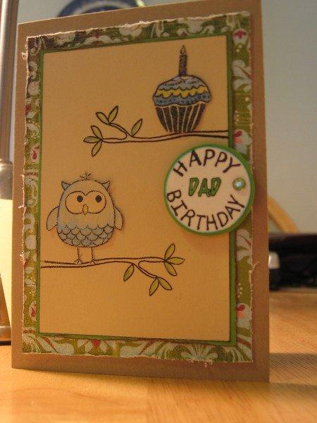 Week 1: Cardmakers Challenge - Dad's Birthday card