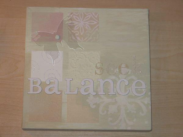 Weekend Creative 5: seek balance
