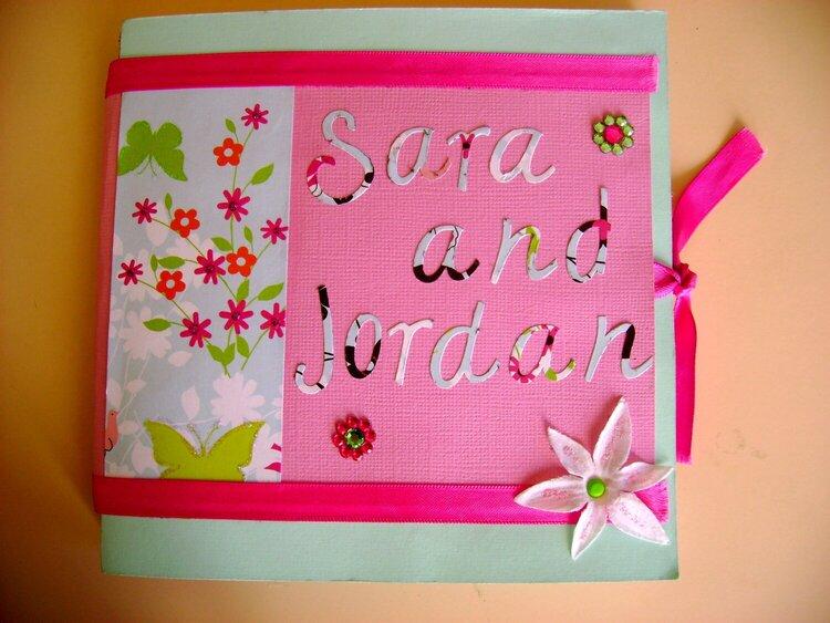 Sara and Jordan mini-album, cover page