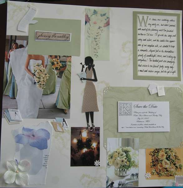 Wedding planning (left page)
