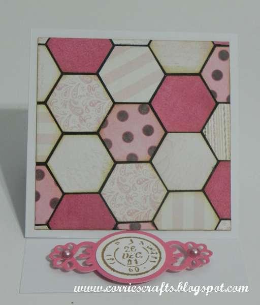 Hexagon Easel Card