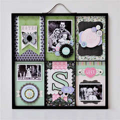 Vintage Vogue Altered Photo Tray ** Pink Paislee **