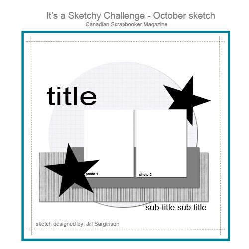 October Sketch for Canadian Scrapbooker