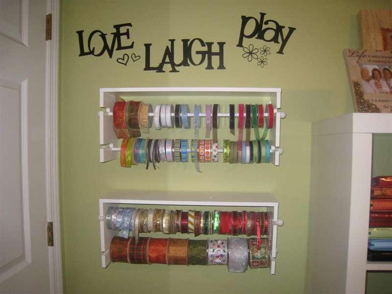 My ribbon shelves