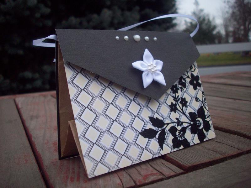 Paper bag gift card holder