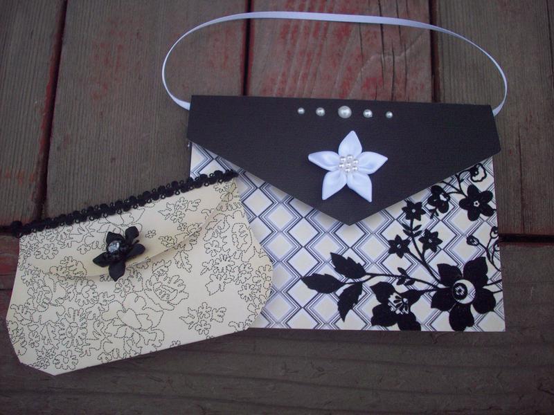 Paper bag gift card holder