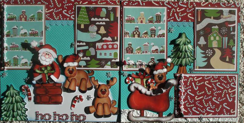 Ho Ho Ho Christmas Layout