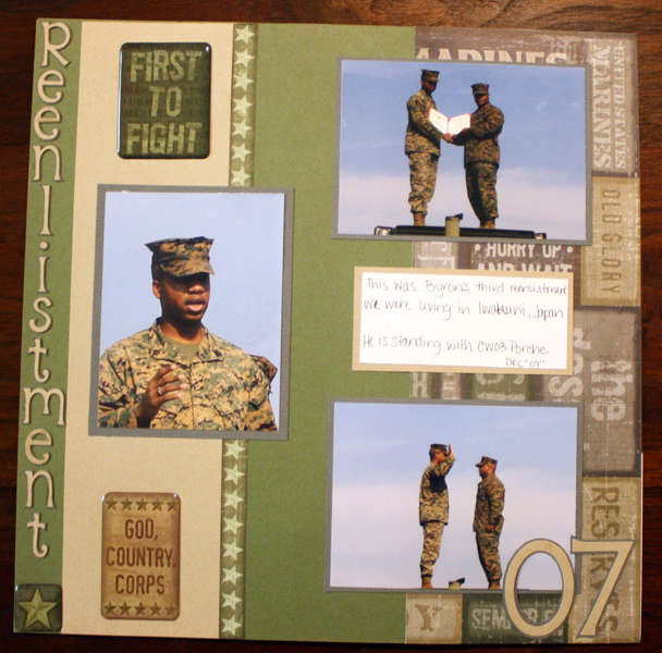 My DH reenlistment