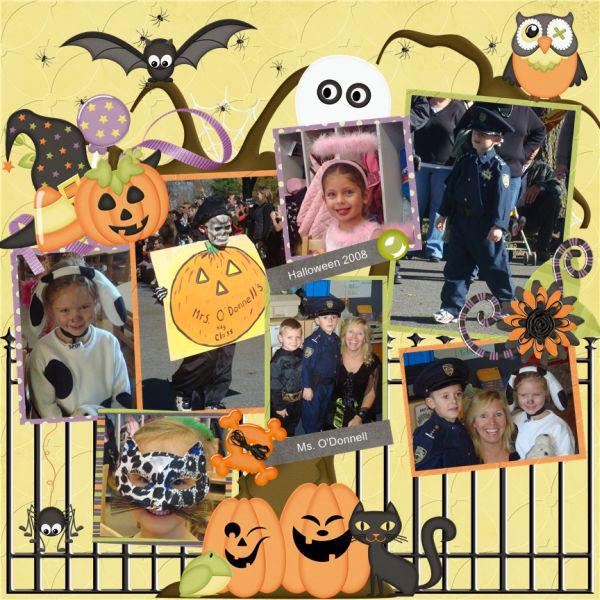 Ms. O'Donnell's class Halloween 2008