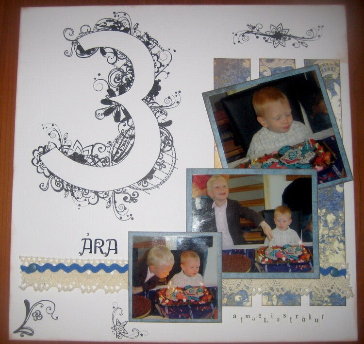 3 years old birthday boy