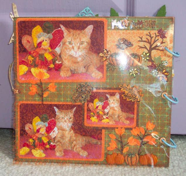 Chipboard cat album
