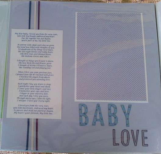 Baby Love Left Page