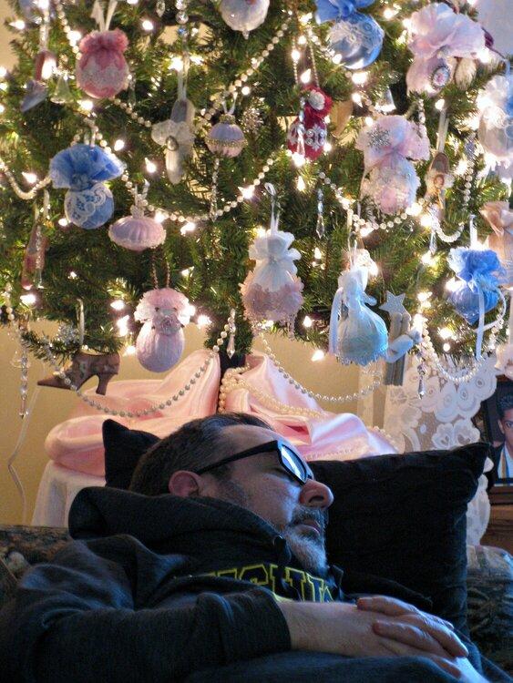 Under the tree...