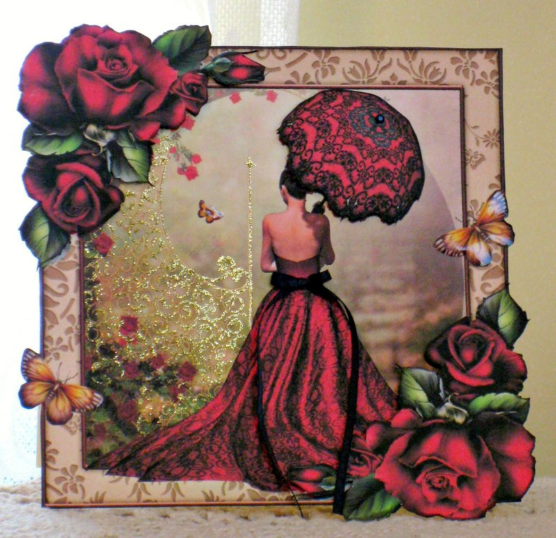 Card 56 ~ Lady In Red