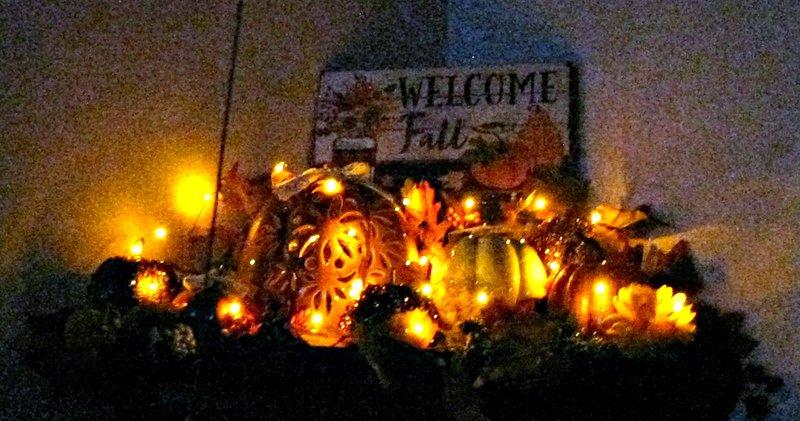Photo Fun - Pumpkins in the dark....