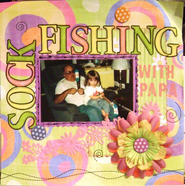 Sock Fishing with papa