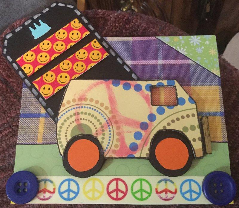 Hippy Birthday Card