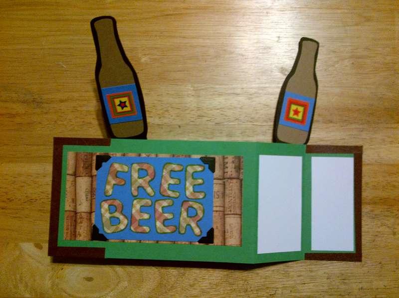 Free Beer Card Opened