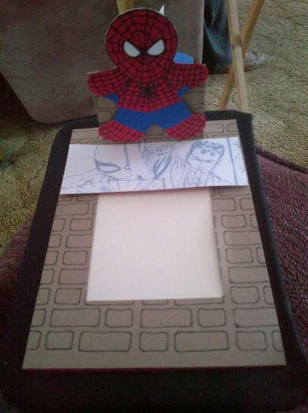 Spiderman Card Open