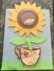 Sunflower Tea Cup Card