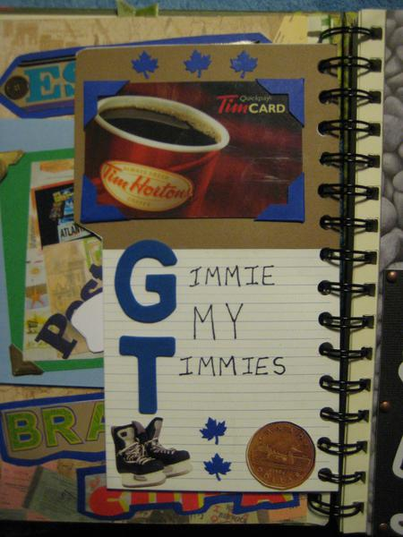Smash Book - Gimmie My Timmies tag