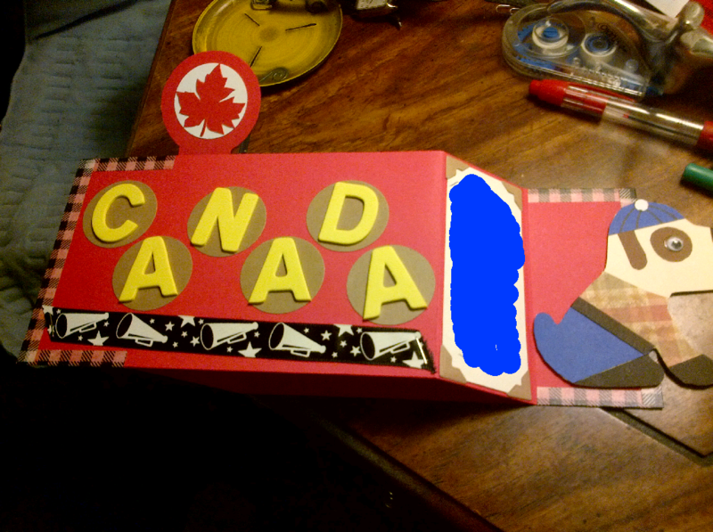 Canada Day Pop Up Card Opened