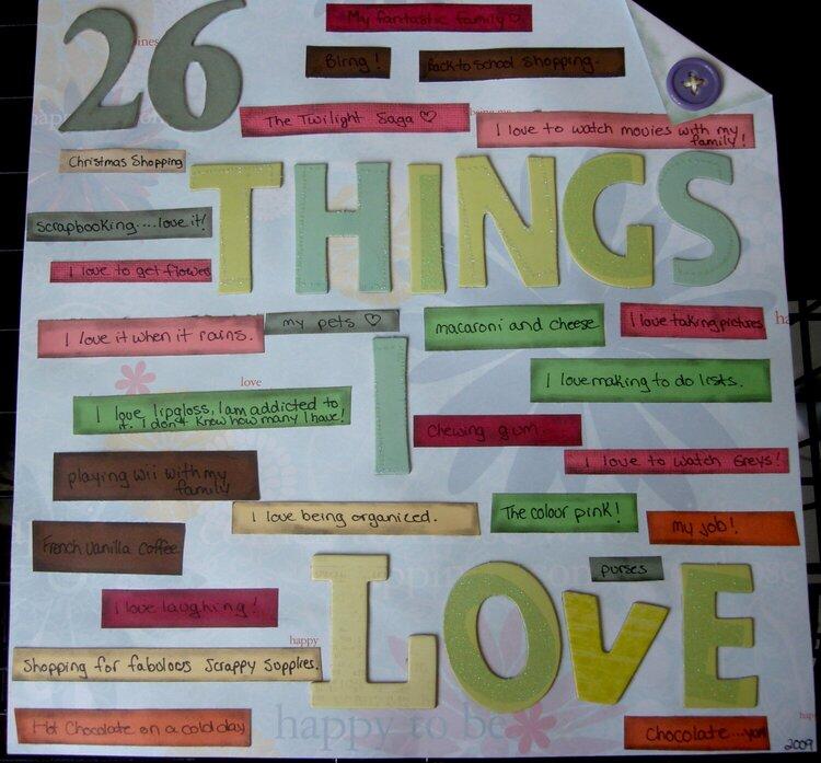 26 things I love!
