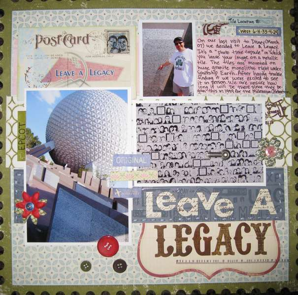 Leave a Legacy-EPCOT