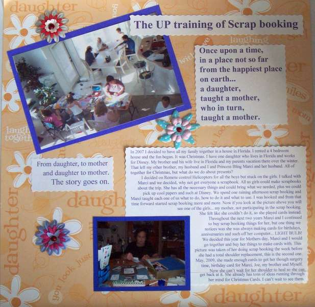 The UP training of Scrap booking