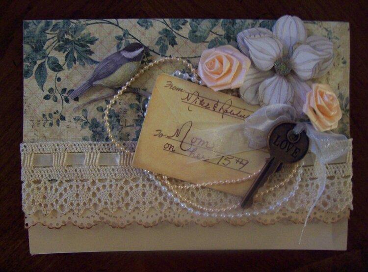 Rose's 75th Birthday Card
