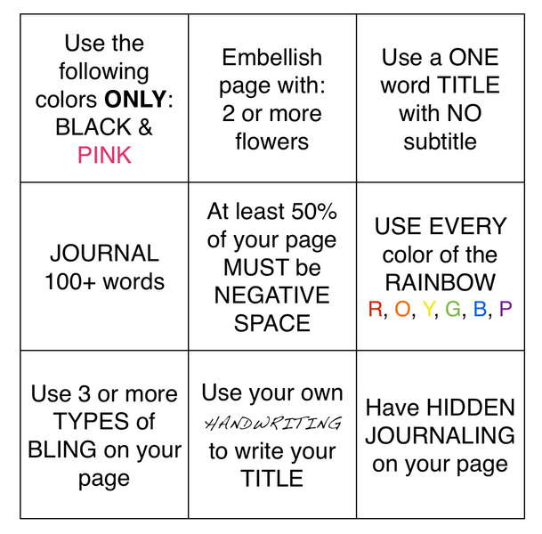 FEB AGC BINGO CARD (WEEKLY CHALLENGE)