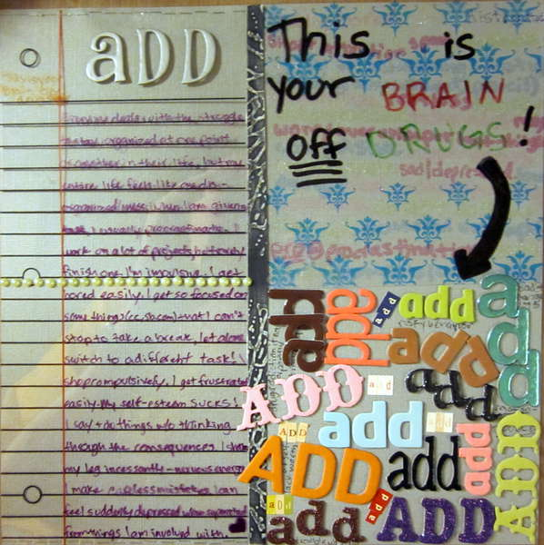 ADD: This is your BRAIN OFF DRUGS!
