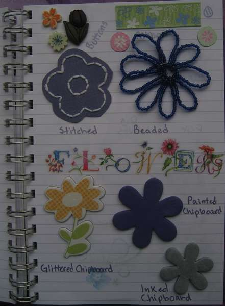 Idea Book Page 11-Flowers