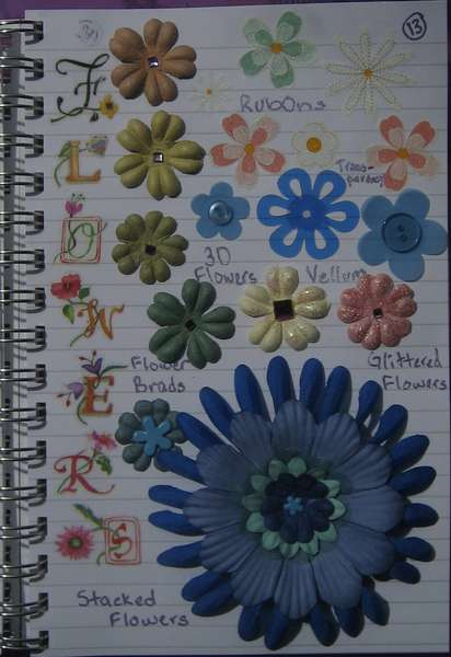 Idea Book Page 13-Flowers