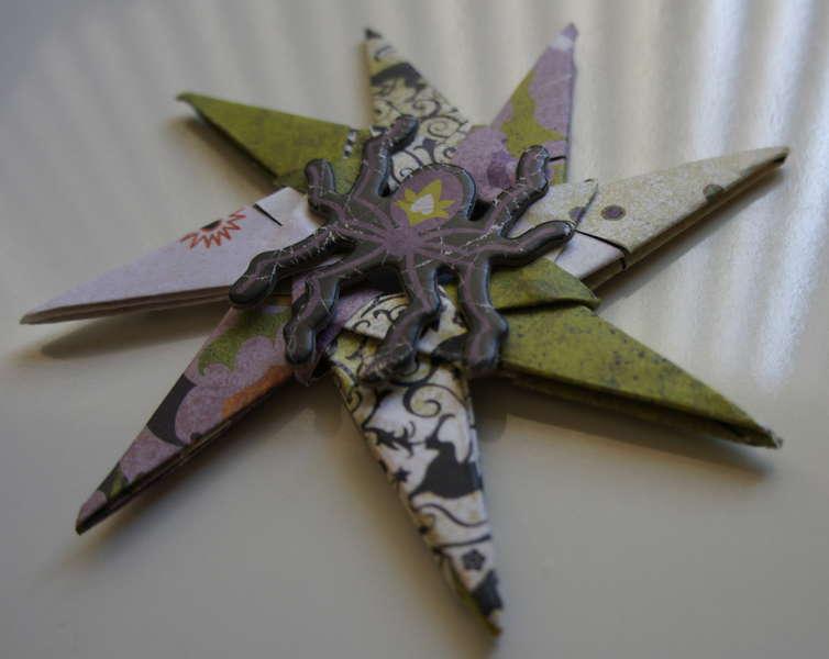 Spider Rockstar Flower (Halloween Swap)