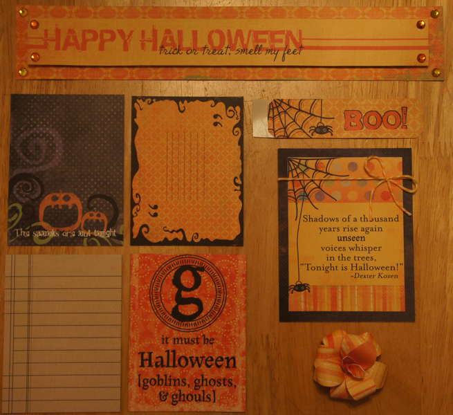 Happy Halloween Cutesy Kit Extras