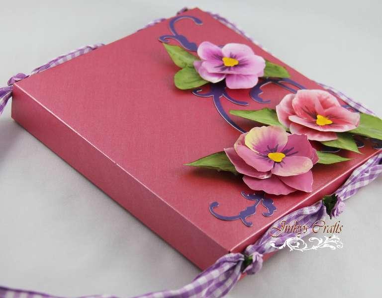 Window Card + Envelobox Hand Bag + 3D Vellum Flower