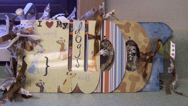 Clear Scraps acrylic WOOF album