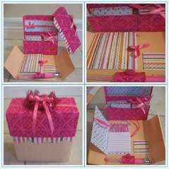 Pretty in Pink Stationary Box