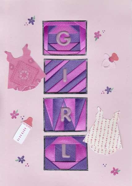 Baby Girl Blocks Iris folded