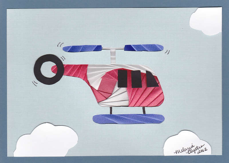 Iris folded Helicopter