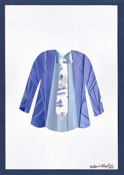 Iris folded suit jacket and shirt