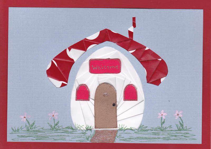 Mushroom house Iris folded