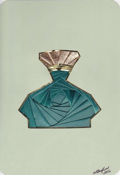 Perfume bottle...iris folded