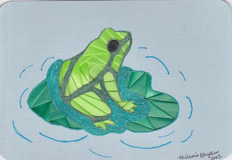 Iris folded frog