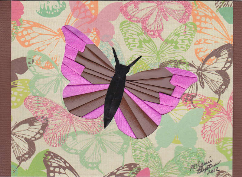 Iris folded butterfly