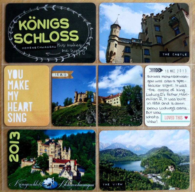 Königs Schloss Hohenschwangau Alps Roadtrip 2013